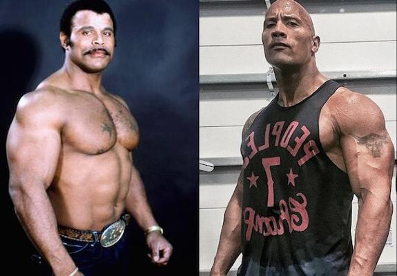Rocky and Dwayne Johnson